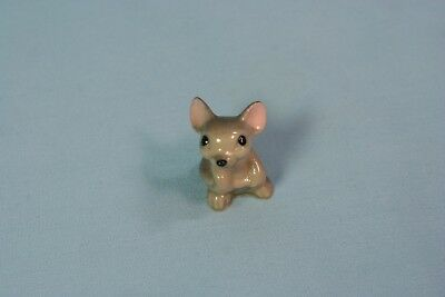 Vintage Hagen Renaker Miniature Ceramic Mama Mouse Holding Tail Figurine