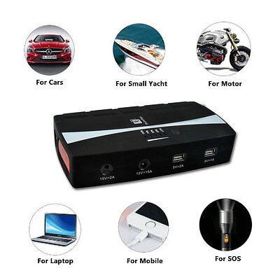 30000mAh 4 Ports Adapter 5V 1A/2A USB Charger Power Bank For Cars Mobile Battery