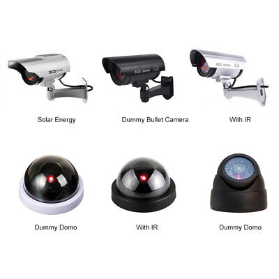 Lots Outdoor Solar Power Dummy Fake Security Red LED CCTV Camera Surveillance