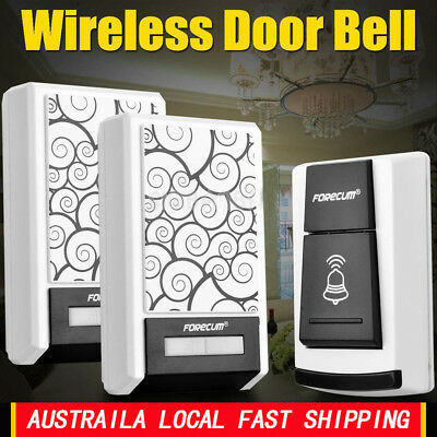 36 Chimes Waterproof Wireless Doorbell Remote Control 1/2 Receiver Door bell AU