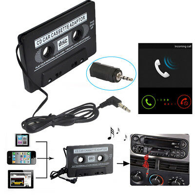 Audio Car Cassette Tape Adapter to Aux Cable 3.5mm Jack For iPod CD Music Player