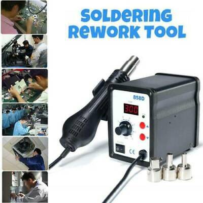 ATTEN 858D+ Hot Air Rework Soldering Station LED Display 3 Nozzles for PCB BAG