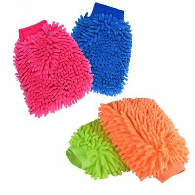 Microfiber Car Wash Cleaning Mitt Glove Multi color wash & dry Supplies