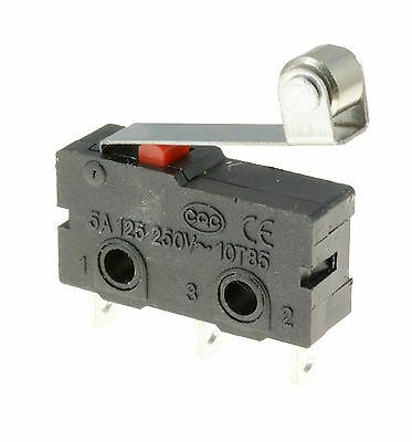 5 x Roller Lever Actuator Microswitch SPDT 5A Micro Switch