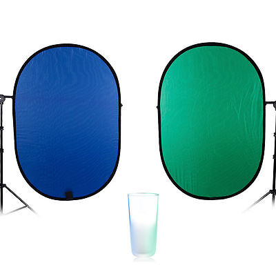 Background Panel Collapsible Chroma key Green & Blue 2in1 for Photography