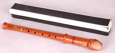 """WEISS SUPERIOR Recorder-West Germany-Box-Vtg Mid Century-Wood-12.5""""-Music"""
