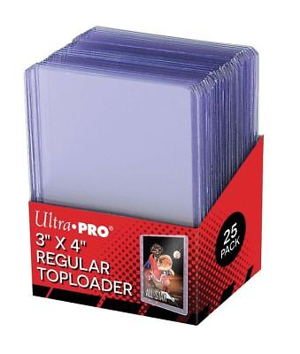25x Ultra Pro 3X4 Regular Card Toploader Storage Holders Baseball Trading Cards