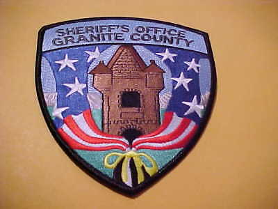 Granite County Montana Police Patch Shoulder Size New