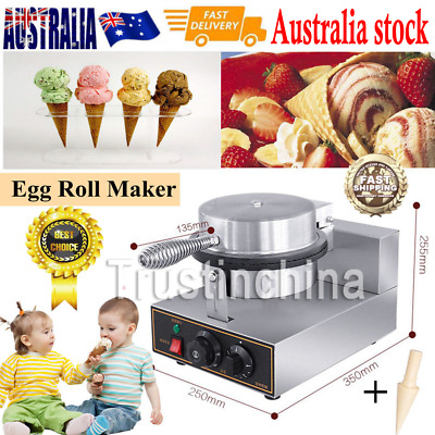 Egg Roll Waffle Baker Machine-Commercial Nonstick Regular Ice Cream Cone Maker