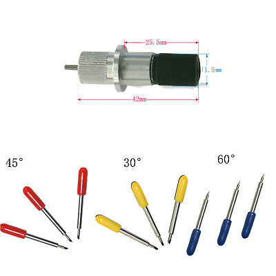 1pc Roland Blade Holders & 9pcs 30° 45° 60° Cutting Blade For Cutting Plotter