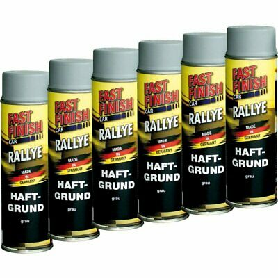 6x 500ml Haftgrund grau Spraydose Grundierung Fast Finish Dose 292811 Car Rallye