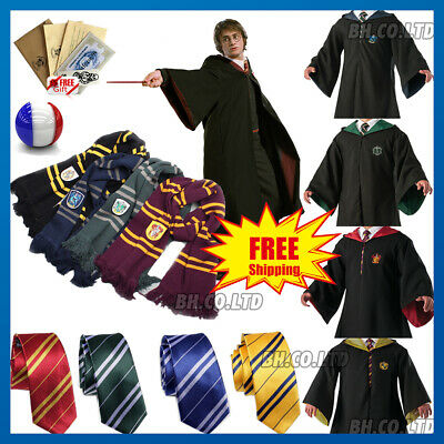 Harry Potter Robe Costume Gryffondor Serpentard Serdaigle Écharpe Cravate Cape