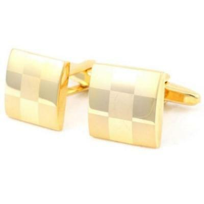 Mesmerizing Highest Quality Trendy Beautiful Gold Silver Square Check Cufflinks
