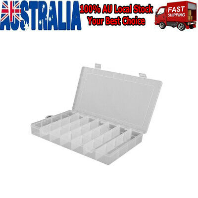Storage Box Plastic Jewelry Organizer 28 Compartment Container Case Bead Craft