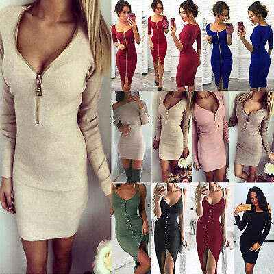 donna vestito body con spalline senza maniche cocktail party casual spacco