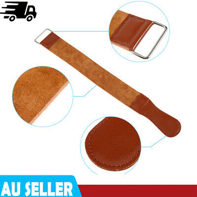 Durable Barber Cow Leather Strop Straight Razor Sharpening Shave Shaving Strap