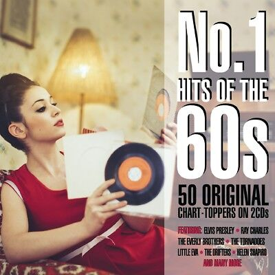 NO.1 HITS OF THE '60s - 50 ORIGINAL CHART-TOPPERS (Various Artists) 2CD