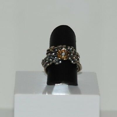original pandora ring gr 58 585 14 k gold 150179 cz. Black Bedroom Furniture Sets. Home Design Ideas