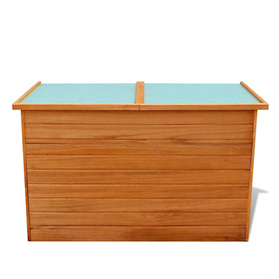 Captivating Outdoor Garden Brown Storage Box Wood With Waterproof Roof
