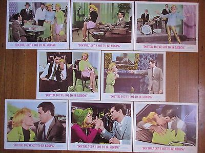 Doctor, You've Got to Be Kidding (1967) - USA Lobby Cards (x 8) / Sandra Dee