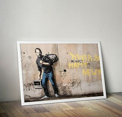 Poster Print A4 Banksy Smiley Cop *DISCOUNTED OFFERS*  A3