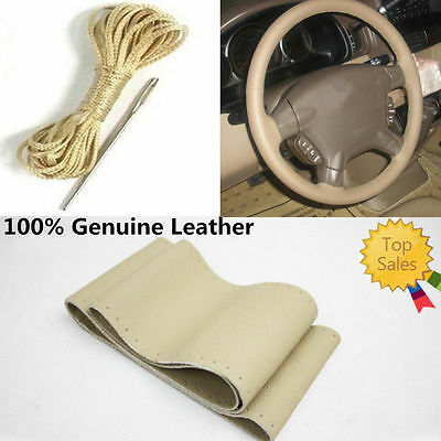Universal Luxury Sporty Auto Car Steering Wheel Cover PU Leather Size Car Cover