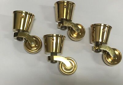 Solid Brass Aged Round Socket Cup Castor - SET OF 4 (907 style)
