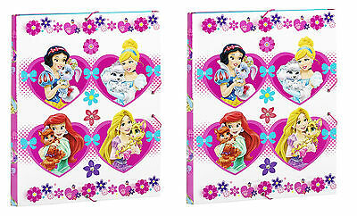 TWIN PACK Disney Palace Pets Document Folder with Elastic Closure