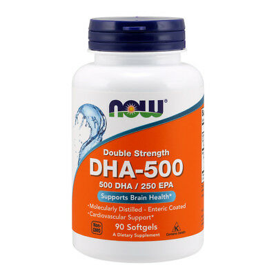 NOW Foods - DHA-500, Double Strength - 500 DHA - 250 EPA - 90 perle