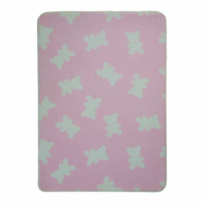 "Flair Rugs Nursery Print Bears Childrens Rug Pink 70cm x 100cm 27.5"" x 39"" x 20"