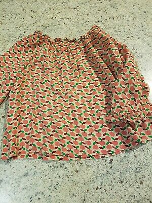Country Road Baby Girls Red Apples Top. Size 12-18 months.