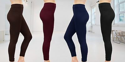 28470188adba1f New Women Ladies Thick Winter Thermal Leggings Fleece Lining Size 8-16