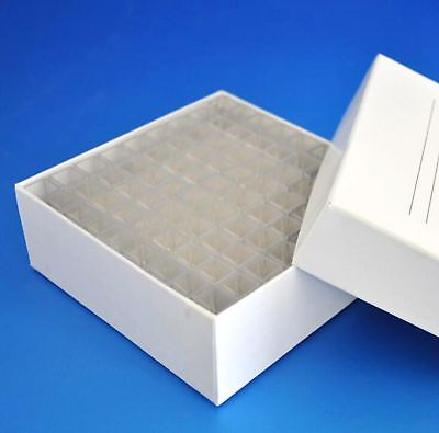 Box of 81pcs 4.5ml Square Plastic Test Tubes Vials Container Craft Cuvette Lab