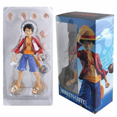 One Piece Anime Monkey D Luffy PVC Figuart Zero Action Figure Toy Joint Moveable