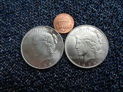 1964 D And 1965  PEACE DOLLAR  COINS THAT NEVER WAS BUT ALMOST WAS!Fantasy!!!
