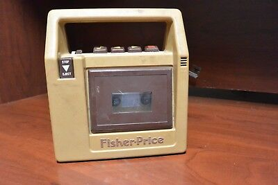 Vintage 1980's Fisher Price #826 Brown Portable Cassette Tape Recorder Player