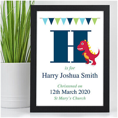 Newborn Baby Boy Gifts Personalised Baby Boy Dinosaur Christening Baptism Gifts