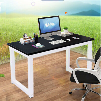 Computer Desk Home Office Study Writing Table WorkStation Wooden MDF Board Metal