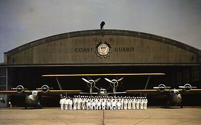 WWII photo group photo of US Coast Guard servicemen from aircraft world war 33a