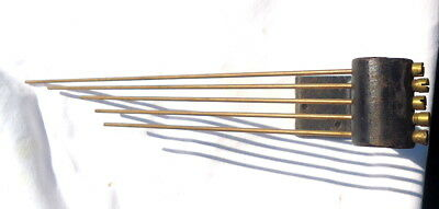 Antique 5 ROD. Clock Chimes with Cast Iron Bracket Restoration or Spares.