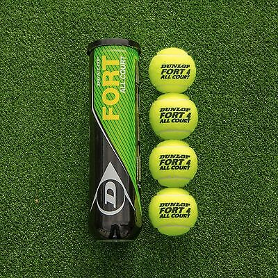 Dunlop Fort All Court Tennis Balls | 4 Ball Tube | Multi Pack Tennis Balls