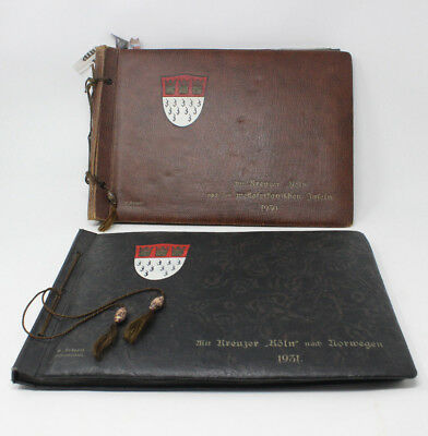 """1930/31 Two Photographic Albums of the German Naval Cruiser """"Köln"""" on tour"""