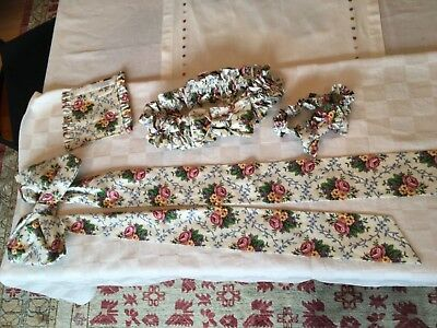 Longaberger Mothers Day Floral Large & Small Garter, Fabric Bow & Gripper