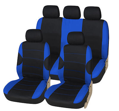 Vw Polo (06-9) Gti Car Seat Cover Set Racing Deluxe Blue