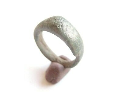 Ancient CELTIC Bronze Lady's Finger Ring - La Tene Culture 300 BC > US size 5-