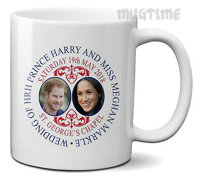 Prince Harry & Meghan Markle - Royal Wedding Gift Mug Cup Ceramic 320ml 11oz m3