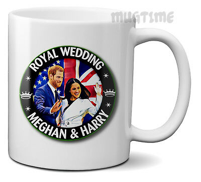 Prince Harry & Meghan Markle - Royal Wedding Gift Mug Cup Ceramic 320ml 11oz m4