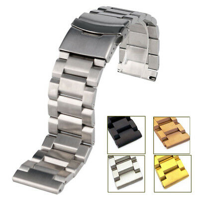 18 20 22 24mm Flip Stainless Steel Metal Belt Watch Bands Straps Watchband XMAS