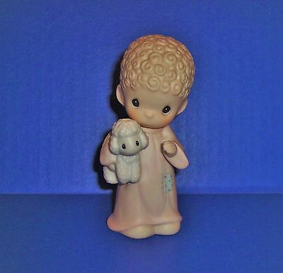 Precious Moments  Nativity Replacement Shepherd With Lamb 183954