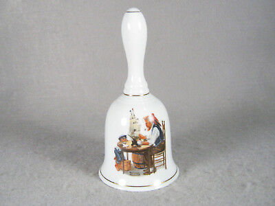 """Norman Rockwell's 1985 porcelain BELL """"For A Good Boy"""""""
